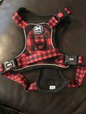 PoyPet Reflective No Pull Dog Walking Harness Vest w/Handle - Red/Black XS
