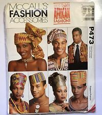 McCall's Emeaba African Fashions Accessories Hats Headwrap Stole Ethnic Uncut