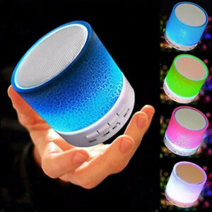 LED WIRELESS MINI SUPER BASS BLUETOOTH PORTABLE SPEAKERS FOR iPHONE iPAD PHONES