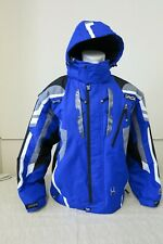 "VINTAGE SPYDER X-STATIC HOOD 2 IN 1 SKI JACKET COAT BLUE 54""CHEST USA XXL 2XL"