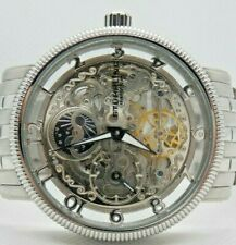 Stuhrling Original Mens Skeleton Automatic 50mtrs WR Stainless Steel watch