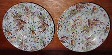 "2 Eggshell Blue Floral Bird Chintz Birds Bowls Mayfair Collection by Joy 8"""