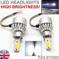 2x H3 Headlight LED Bulbs 8000 Lumens Bright COB XENON White 6000K Light Car 12V