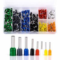 Wire Copper Crimp Connector Insulated Cord Pin End Terminal Box AWG 22-10 800Pcs