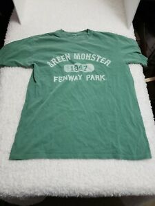 Green Monster Fenway Park Majestic T Shirt Size M Red Sox shirt MLB