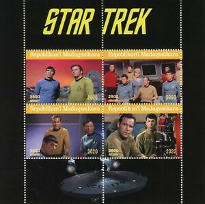 Madagascar Star Trek Stamps 2020 CTO Original Series Spock Captain Kirk 4v M/S