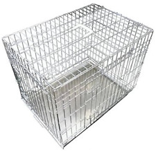 Ellie-bo Dog Puppy Cage Folding 2 Door Crate Non-chew Metal Tray XXL 48in Silver