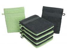 Betz Lot de 10 gants de toilette PALERMO pur coton taille 16x21 cm  gris et vert