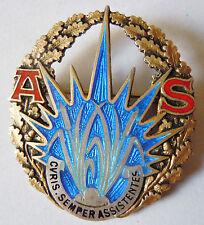 Insigne ARGENT MASSIF AS ASSISTANTES SOCIALES France 1960 ORIGINAL Drago badge