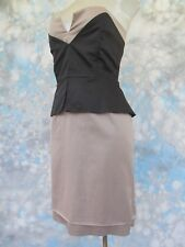 VENUS Sz 10 Gray Black Strapless Sheath Women's Dress EUC
