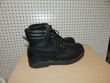 Mens WorkForce Steel Toe work boots - size 12 - black