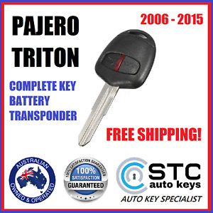 MITSUBISHI TRITON PAJERO COMPLETE REMOTE TRANSPONDER CAR KEY  FOB 2006 - 2015