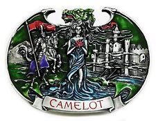 Camelot Belt Buckle King Arthur Knight & Castle Fantasy Authentic Dragon Designs