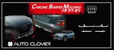 Autoclover Chrome FR RR Bumper Garnish Molding 3p for 2017 - 2018 Kia Kona