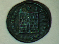 CONSTANTINE I the GREAT 325AD Ancient Roman Coin Military Camp gate