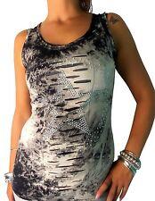 Mehrfarbige Damenblusen,-Tops & -Shirts mit Rundhals für Party
