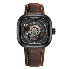 Tourbillon Automatic Mechanical Men's Luxury Watches Leather Swiss Square Dial