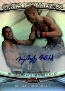 2012 Finest UFC Finest Moments Autographs Card #FMMM Michael McDonald