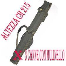 FODERO DA PESCA CARP FISHING CARSON IMBOTTITO PER 3 CANNE DA 13 PIEDI  CARPA