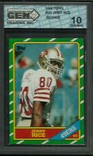 1986 TOPPS #161 JERRY RICE RC GEM MINT 10 49ERS HOF ROOKIE (R) NFL FOOTBALL