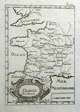 FRANCE Mallet original antique copper engraved map 1719