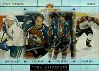 1999-00 Upper Deck MVP 90's Snapshots Peter Forsberg #S6