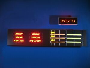 Knight Rider KITT Upper Console Displays - Season 1 - with overlay