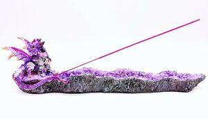 Purple Dragon Geode Incense Burner