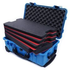 Pelican Blue & Black 1510 case, with custom tool foam inserts. Tool shadowing