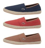 Lacoste Marice 119  Men's Casual Canvas Loafer Shoes Sneakers Brown Navy Red NEW