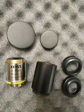 Carl Zeiss A Plan 10x025 421040 9900 Microscope Objective With Ring Adapters