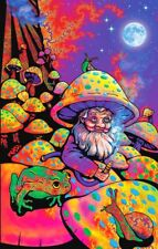 Psychedelic King Mushroom Magic Trippy Groovy Hippy 420 Sticker or Magnet