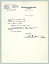 1971 US SENATOR WALTER MONDALE Original SIGNED AUTOGRAPH Letter / VICE PRESIDENT