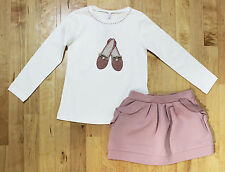 NWT Mayoral Girls' Ballerina Motif Top and Ruffle Trim Skirt Set ~ Size 2