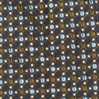 BRIONI Circle Dot Geo Grid Black Blue Olive Green Business Men's Silk Neck Tie