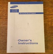 SAMSUNG TV OWNERS USERS MANUAL LTN1565 LTN1765 OPERATING INSTRUCTIONS