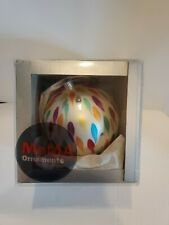 MOMA Hand Blown Glass Brush Stroke Ornament Box Modern Art Italian 2002