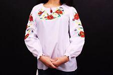 Ukrainian embroidered sorochka t-shirt blouse vyshyvanka, embroidery, Size S