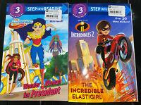 2 Children's Books DC SuperHero Girls And Incredibles 2
