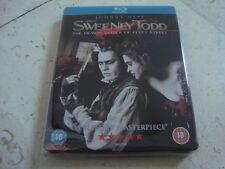 SWEENEY TODD BluRay SteelBook + STAND rare OOP 1st UK SB TIM BURTON Johnny Depp