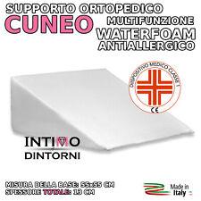 CUSCINO GUANCIALE TRIANGOLARE ORTOPEDICO A CUNEO - GRAVIDANZA - MADE IN ITALY