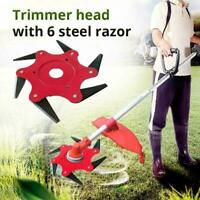6Steel Blades Razors 65Mn Lawn Mower Grass Eater Trimmer head Brush Cutter so