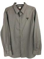 Tesla Motors Employee Issued Grey XL Shirt Long Sleeve Button Up
