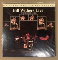 BILL WITHERS Live at Carnegie Hall MFSL 2-446 33rpm Vinyl 2LP SEALED #4036 MoFi