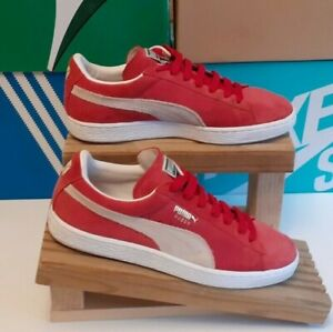 Puma Suede Red Trainers Size 8.5