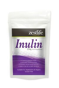 Zestlife Pure Inulin 250g - probiotic for healthy bacteria & digestive health