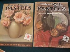 Lot of 2 Vintage Walter T Foster How to Draw with pastels & paint pastels book