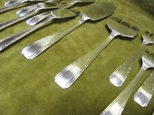 """service à poisson métal argenté art deco """"boreal"""" FRIONNET fish forks knives 24p"""
