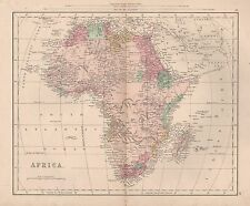 1900 Ca ANTIQUE MAP-AFRICA