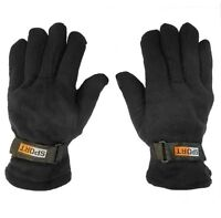 Polar Fleece Gloves  Winter Snow Insulated  Thermal Mittens One Size adjustable